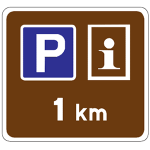 Advance sign for lay-by with tourism information