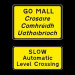 Automatic level crossing ahead