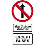 Bus only street