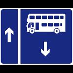 Contra flow bus lane
