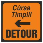 Detour to left