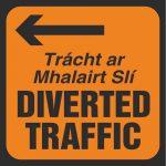 Diverted traffic left