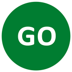 Either form of go can be used