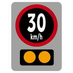 Electronic periodic speed limit sign