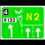Lane destination sign