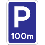 Lay-by ahead sign