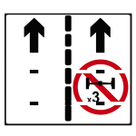 In a tunnel goods vehicles cannot use right-hand lane (by reference to number of axles)