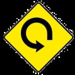 Loop road ahead
