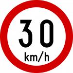Max speed limit 30kmh
