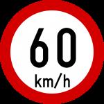 Max speed limit 60kmh