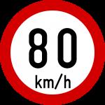 Max speed limit 80kmh