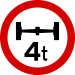 Maximum axle weight