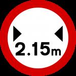 Maximum vehicle width
