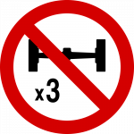 No entry to goods vehicles (by reference to number of axles)