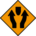 Obstruction between lanes
