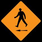 Pedestrian cross to left