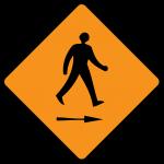 Pedestrian cross to right