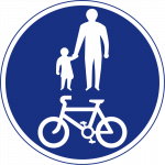 Pedestrians and bicycles only