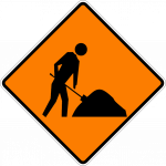 Road works ahead