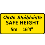 Safe height plate