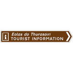 Sign to approved tourist information points