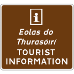 Signing to approved tourist information