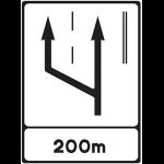 Slow lane sign