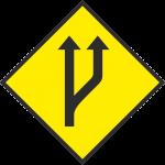 Start of a passing lane