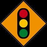 Temporary traffic signal ahead