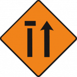 Nearside lane (of two) closed