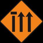 Nearside lane (of three) closed