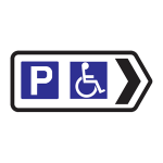Car park with facilities for disabled person