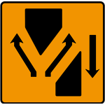 Lanes diverge at crossover