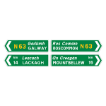 National road direction signs
