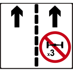 No overtaking for three-axle vehicles