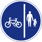 Separate bicycle and pedestrian lanes