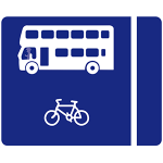 With flow bus lane on left